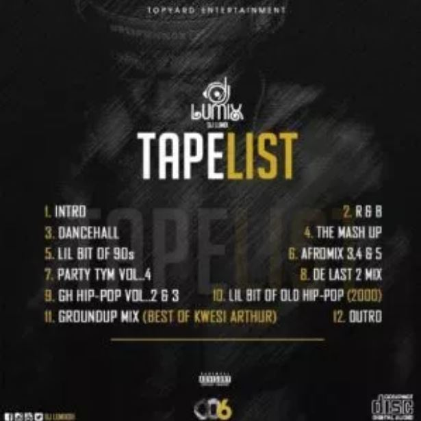 DJ Lumix – 006 Mixtape [EP]-tapelist