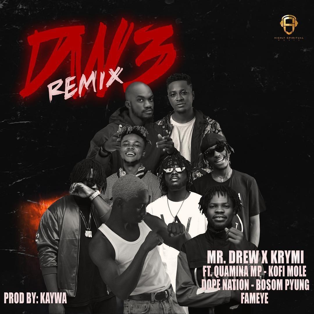 Mr. Drew x Krymi – Dw3 remix ft. Quamina MP, Kofi Mole, DopeNation, Bosom Pyung & Fameye mp3 download