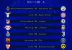 2020/2021 #UCL Draw: Round Of 16 draw
