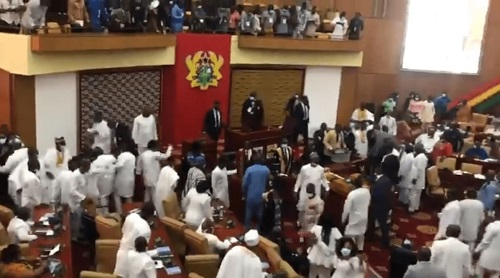 Ghana Parliament Fight