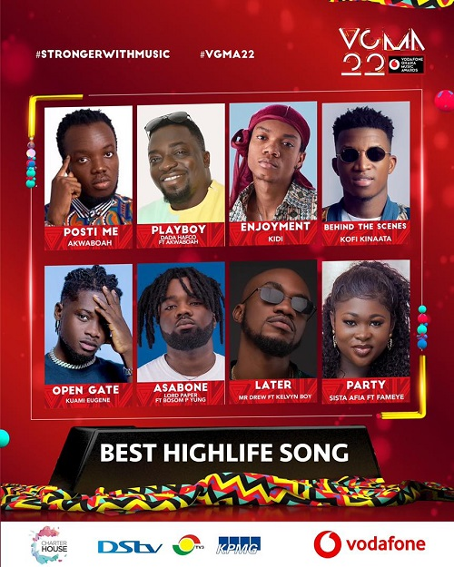vgma 2021 highlife song of the year