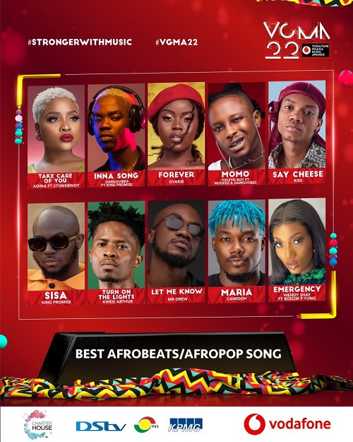 vgma 2021 afrobeats afropop song of the year